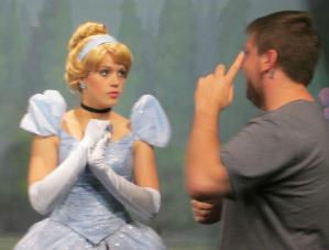 Educational Speaker Josh Gunderson and Princess Cinderella. Enough said.